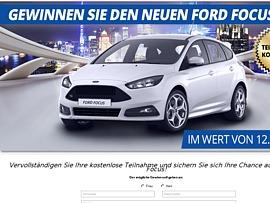 Traumauto-Aktion: Ford Focus gewinnen