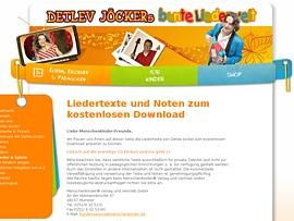 Liedertexte und Noten von Detlev Jöcker zum Gratis-Download