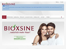 Gratis-Probe Bioxsine Shampoo gegen Haarausfall