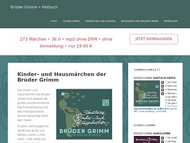 Grimms Märchen als Hörbuch oder E-Book - Haus- und Kindermärchen zum Gratis-Download