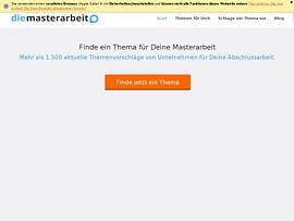 Die-Masterarbeit - Themen finden für Masterarbeiten in Unternehmen