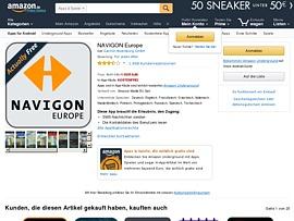 Navigon Europe App im Wert von rund 140 Euro gratis bei Amazon laden