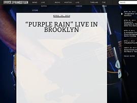 """Bruce Springsteen covert Superhit von Prince - """"Purple Rain"""" zum Gratis-Download"""