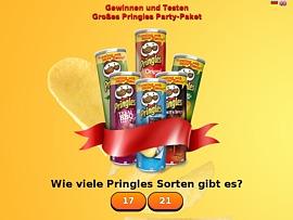 Pringles Produkttest: Kostenloses Partypaket anfordern
