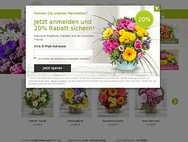 5€ Rabatt auf Blumen von Valentins.de