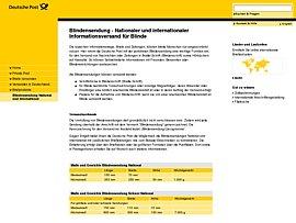 Deutsche Post: Sendungen an Blinde sind portofrei