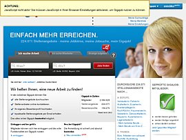 Gigajob - kostenlose Stellenbörse hilft bei der Suche nach dem neuen Job