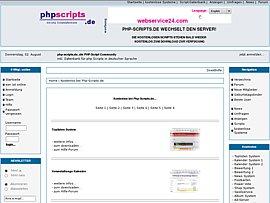 Datenbank für kostenlose bei PHP-Script