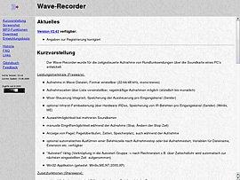 Wave-Recorder: Download mit Tutorial