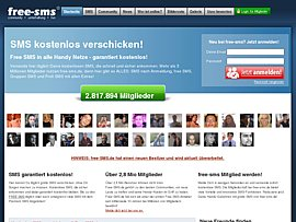 Free-SMS-Service mit Anmeldung