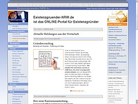 Existenzgruender-NRW.de -  Neues Internetportal für Existenzgründer, Selbständige und Gewerbetreibende