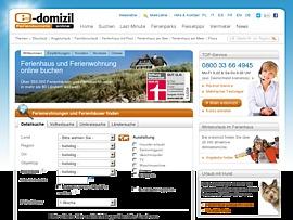 Ferienwohnungen und Ferienhäuser: e-domizil.de bietet Partnerprogramm