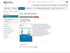 BMAS: Job-Lexikon für Schulabgänger als Broschüre oder zum Download
