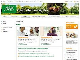 Pflegeheim-Navigator der AOK