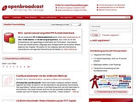 openBroadcast Kompetenznetzwerk für Journalisten, Autoren und PR-Fachkräfte