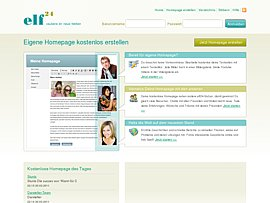 Kostenlose Homepage bei elf24.de erstellen