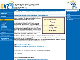 Wörterbuch für Lebensmittel-Allergiker in Europa