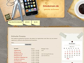 Freigewordene .de Domains