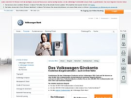 Volkswagen Bank: Girokonto plus 50 Euro Starter-Bonus