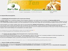 Ökostromangebote - EcoTopTen Marktübersicht Januar 2015