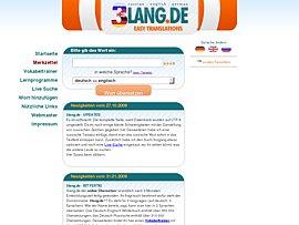 3lang.de - Übersetzungen online und kostenlose Lern- und Übersetzungsprogramme