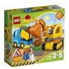Lego Duplo Bagger und Lastwagen / Baustelle (10812)