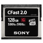 Sony CFast 2.0 128GB Compact Flash, 128GB, 530 MB/s