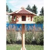 Promadino Vogelhaus Knusperhäuschen mit Fußkreuzständer 143,5x57x59 cm