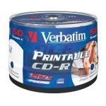verbatim cd-r 52x speed 700mb wide printable surface generic 50er spindel cd-rohlinge