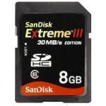 sandisk sdhc extreme 8 gb speicherkarte 30mb edition