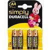 Duracell SIMPLY AA(MN1500/LR6) K4