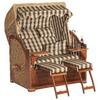 SonnenPartner Gartenstrandkorb Rustikal 500 Plus Comfort 3/4